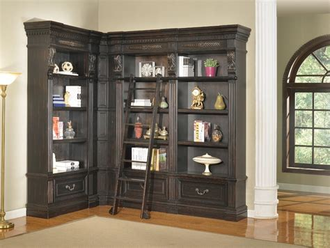 Corner Bookcase by The Grand Manor Pallazo Corner Bookcase Wall Unit With