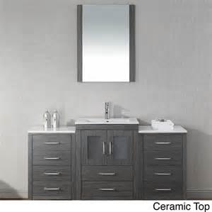 virtu usa dior 60 inch single sink vanity set in zebra