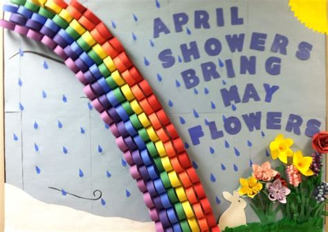 april bulletin board   nursing home april showers
