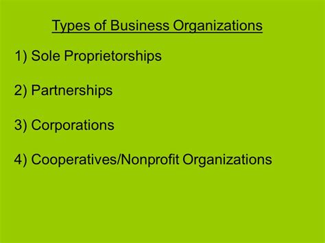 6 Types Of Business Organizations Entrepreneur Must