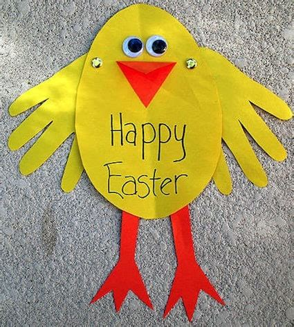 20 easy easter crafts for preschoolers and toddlers 790 | easter crafts for preschoolers handprint chick