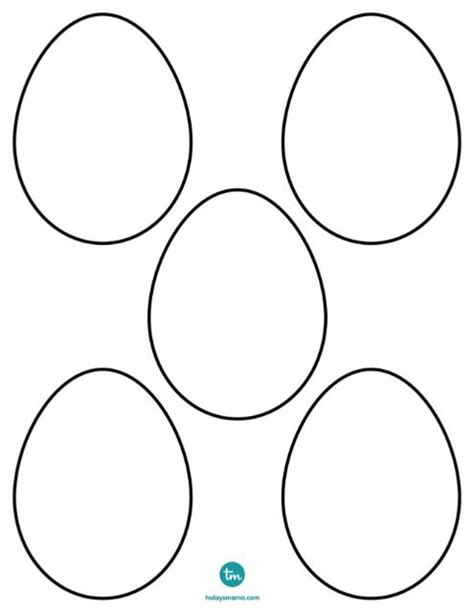 Small Easter Egg Template by Zendoodle Easter Egg Coloring Pages Coloring Colored