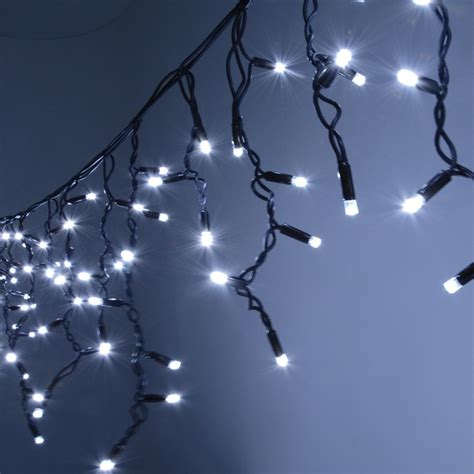 300 cool white heavy duty outdoor icicle led string lights