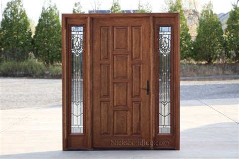 door with sidelights exterior doors with sidelights solid mahogany entry doors