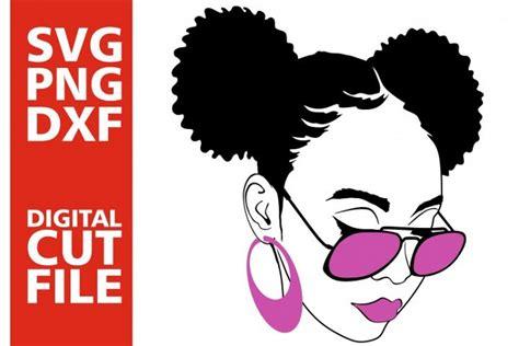 black woman  glasses svg afro puffs black girl magic  svgs design bundles