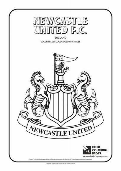 Newcastle Coloring Pages United Cool Soccer Logos