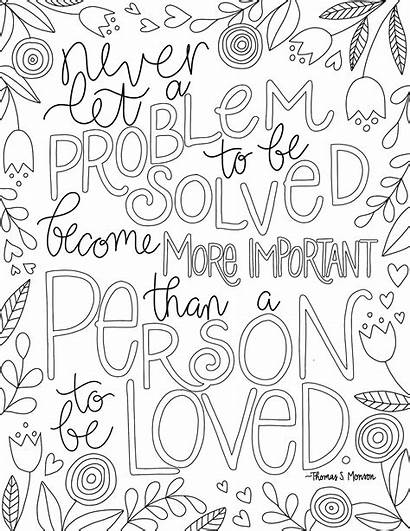 Coloring Lds Pages Words Hello Speak Quote