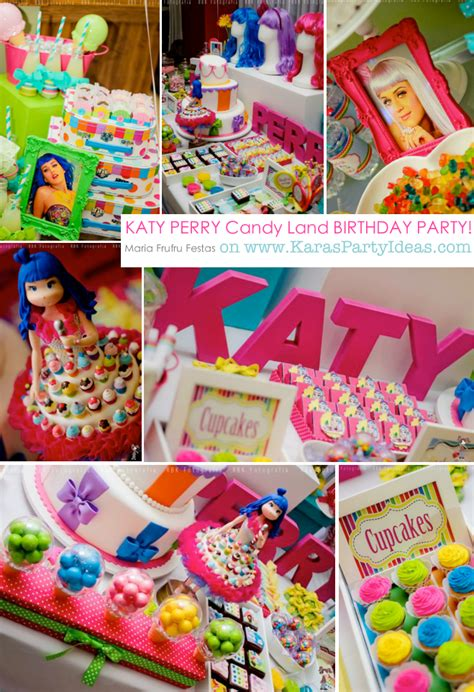 karas party ideas katy perry  girl themed party