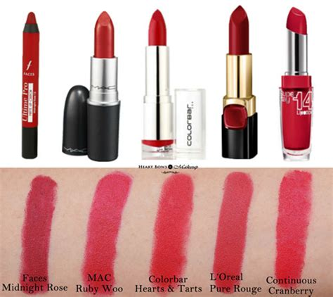 10 Best Matte Red Lipsticks In India Review, Swatches