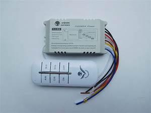 Yj R4 Manual Wireless Smart Remote Control Four Way Switch
