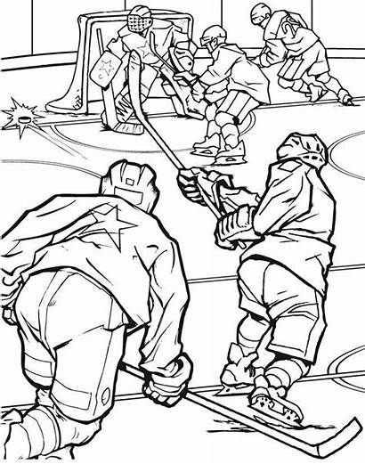 Hockey Coloring Pages Team Printable Field Sheets