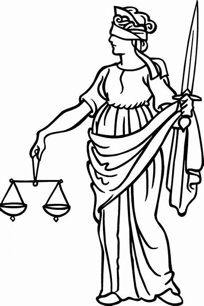 Justice Drawing Scales Cliparts Lady Law Lawyer