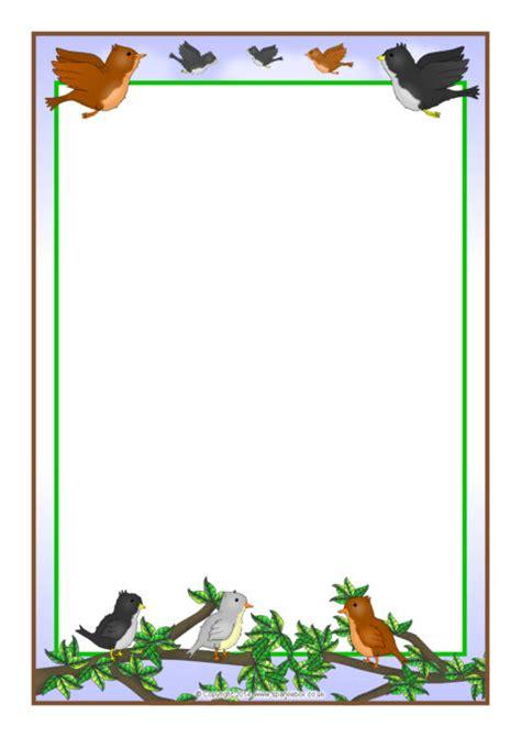 birds  page borders sb sparklebox