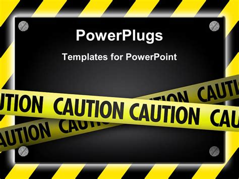 powerpoint template silver screws glowing  yellow