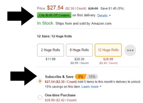 save use subscribe money coupons