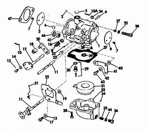 Evinrude Carburetor Parts For 1973 65hp 65373r Outboard Motor
