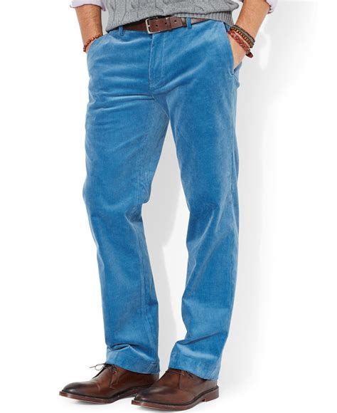 light blue corduroy pants mens polo ralph lauren classic fit newport corduroy pants in