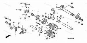 Honda Atv 2007 Oem Parts Diagram For Gear Shift Drum