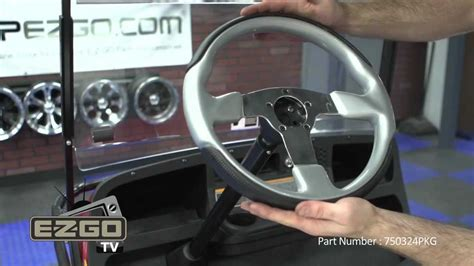 ezgo steering wheel fibertech silver formula how to install golf cart steering wheel youtube