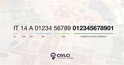 ricerca da codice iban come risalire al numero di conto corrente dal codice iban