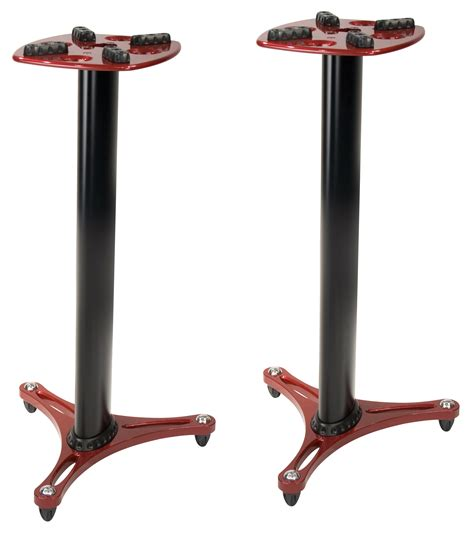 studiol staand ultimate support ult ms90 36r red speaker stands pair