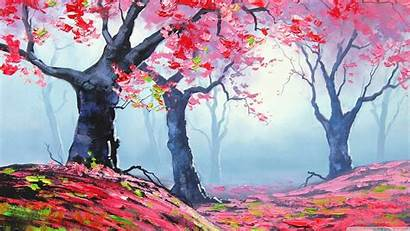 Spring Painting Wallpapers Desktop 4k Scenery Anime