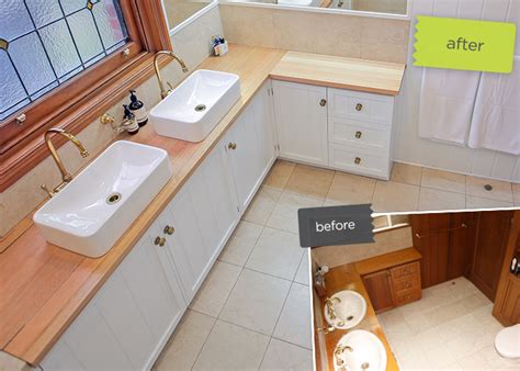 a clever bathroom revamp kaboodle kitchen
