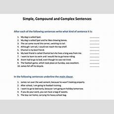 Simple, Compound And Complex Sentences By Skillsmastery  Teaching Resources