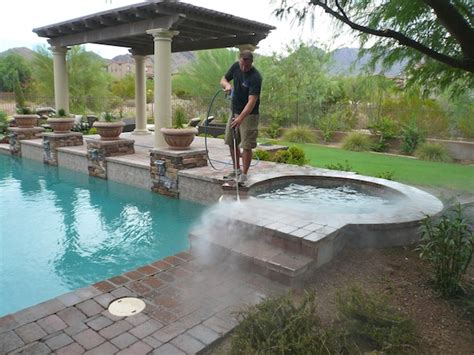 Cleaning Pool Deck With by Pool Maintenance Tips Hirerush