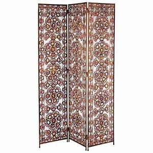 Paravent en metal multicolore l 123 cm sheherazade for Paravents maison du monde