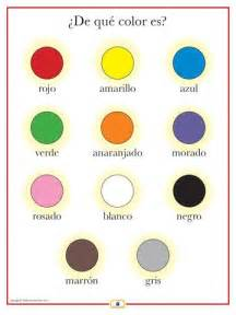 Learning Colors Worksheets Spanish