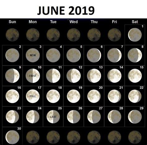 june  moon phases calendar moon calendar moon phase