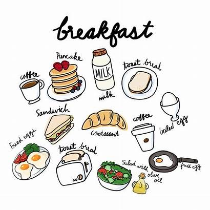 Breakfast Desayuno Drawing Clipart Rawpixel Menu Healthy