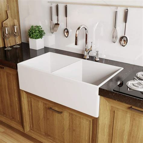 farmhouse kitchen sink white faucet mno3320fc in white by miseno 7158