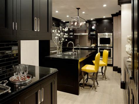 kitchen accent furniture black kitchen furniture and edgy details to inspire you