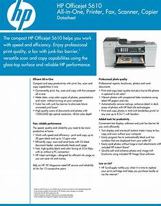 Hp Officejet 5610 Users Manual Datasheet