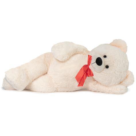ours en peluche g 233 ant 100 cm blanc piscine et jeux
