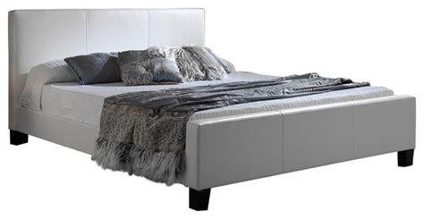 euro upholstered platform bed  side rails white