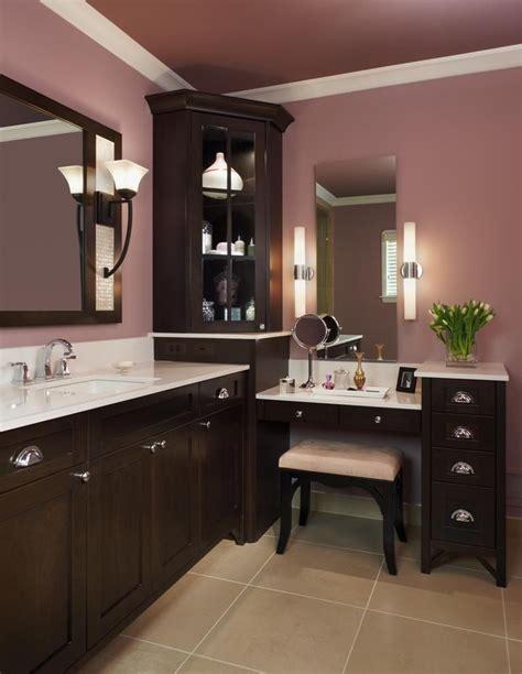 bathroom makeup vanity corner vanity cabinet bathroom traditional with cabinetry