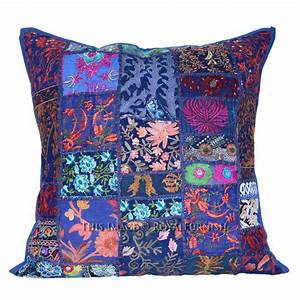 20x20 inch bohemian patchwork decorative accent throw With bohemian pillows and throws