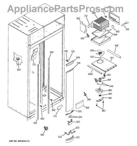 parts  ge zisbdmd freezer section parts appliancepartsproscom