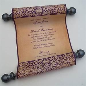 scroll wedding invitations elegant wedding by artfulbeginnings With scroll wedding invitations etsy