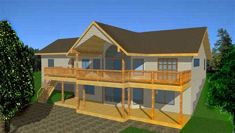mountain house plan  spacious rear deck gh architectural designs house plans