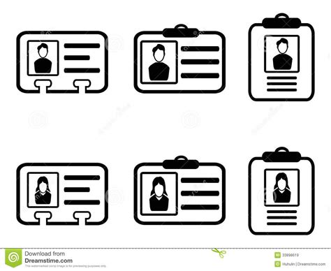 id card icons royalty  stock images image