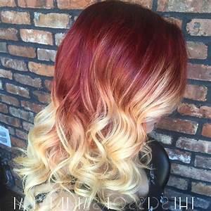 Ombré Hair Rouge : en gras et en rouge et les cheveux blonds couleurs pour ~ Melissatoandfro.com Idées de Décoration