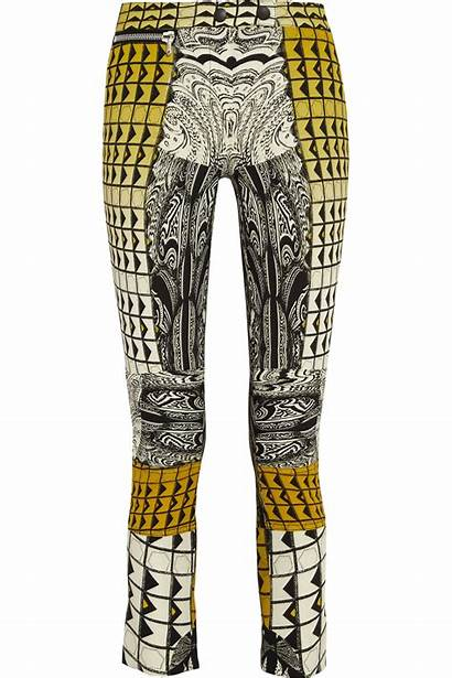 Pants Printed Crepe Cropped Etro Lyst Clothing