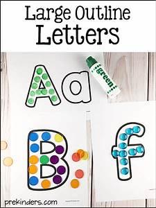 Letter Outlines Printable Alphabet Printables For Pre K Preschool Kindergarten