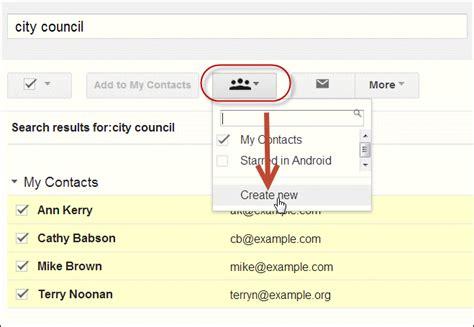 create gmail distribution contact button lists descriptive enter text box ok
