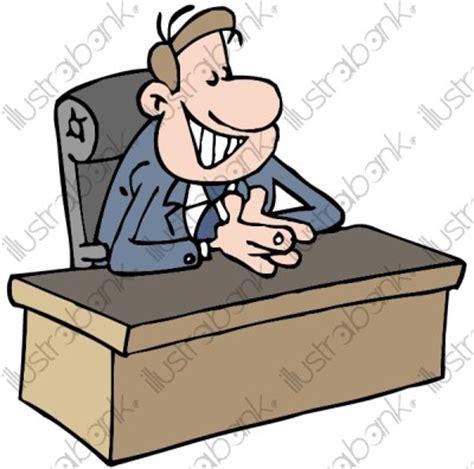 un proviseur illustration au bureau libre de droit sur