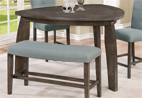 Gray 4 Piece Counter Height Tri-table Dining Set